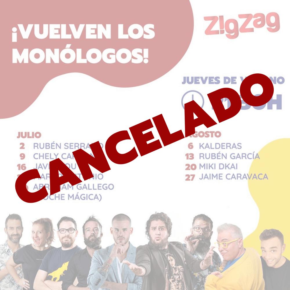 Cancelado el ciclo de monólogos en ZigZag